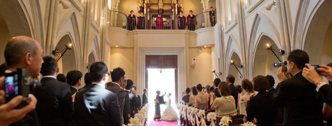 結婚式場での出張撮影