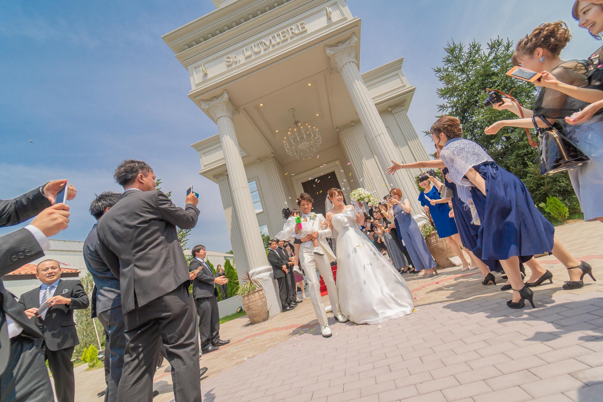 ヒマワリが咲く頃に(セントルミエールで結婚式撮影)