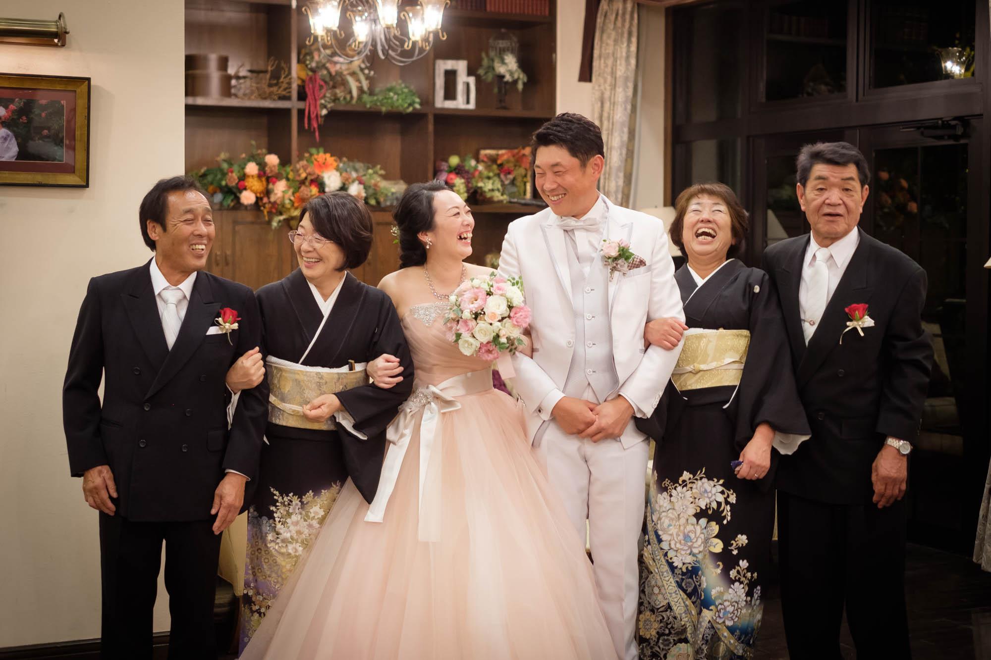 うつる笑顔(ハウスオブブランセで結婚式)